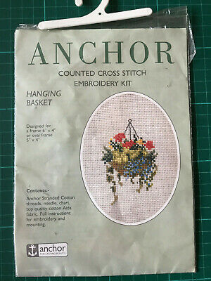 Anchor Hanging Basket Counted Cross Stitch Embroidery Kit