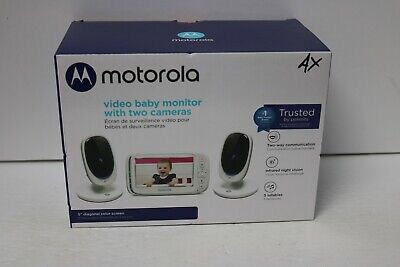 "Motorola Comfort 50-2 Video Baby Monitor 5"" Lcd Color Display And 2 Cameras"