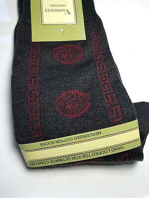 Nwt Mens Vannucci Couture Multi Color Designer Greek Key Socks
