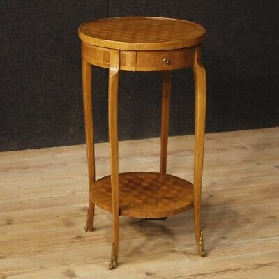 Small Table French Furniture Bedside Wooden Inlaid Antique Style Living Room 900