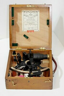 A 1959 brass sextant by 'Kelvin & Hughes Limited 65813'