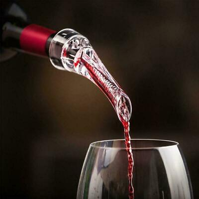 Wine Aerator Quick Magic Pourer Spout Acrylic Whiskey Bar Decanter Bottle T W6Z8
