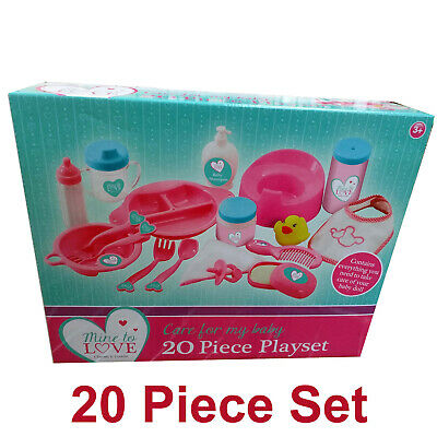 Baby Dolls Feeding Bottles, Bibb, Dummy etc Accessories 20 Piece