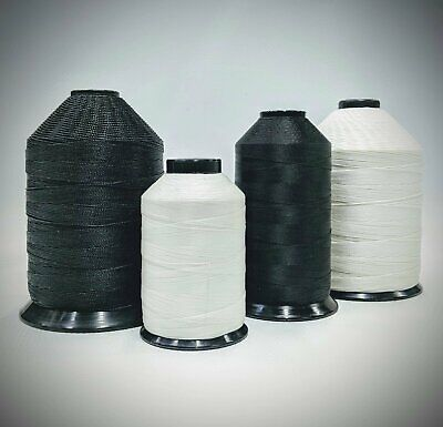 Bonded Nylon Lubed Sewing Machine Thread | Black or White | Various Thread Sizes