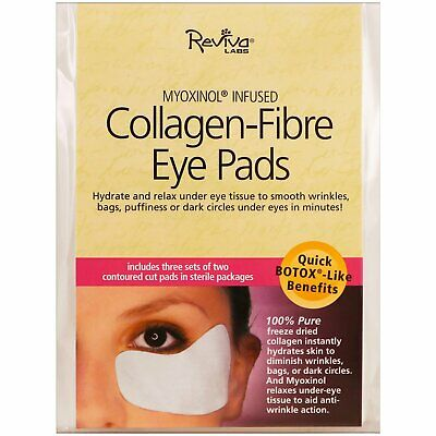 Reviva Labs Collagen-Fibre Eye Pads 3 Sets of Two Contoured Pads