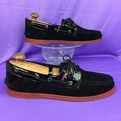 New $110 SPERRY A//O 2-Eye Darth Vader Black Suede Boat Shoes Star Wars STS81729