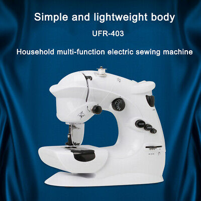 Mini Sewing Machine Household 7 Line Stitching Multifunction Electric DIY Tools