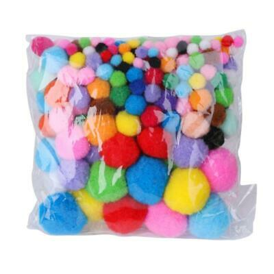200Pcs Assorted Colors Craft Pom Poms Creative Making Hobby Supply DIY Tools c