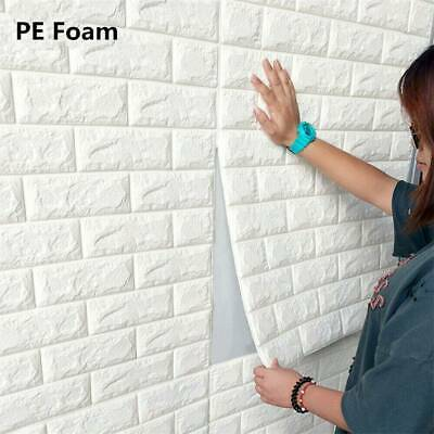 3D Brick Embossed Wall Sticker Self Adhesive Panels Stick PE Foam Home Decor New