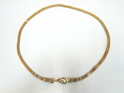 vintage retro gold metal mesh hand rope belt / necklace - great condition rare