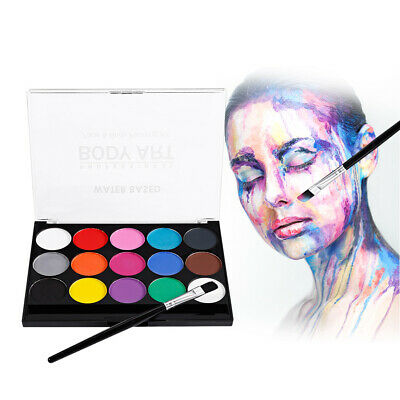 Professional Body Art Face Painting Kit Water Based Removable Body Paints Kit AU