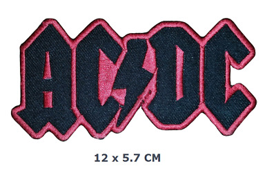 i91 4.5 x 2 inch AC//DC Rock Band embroidered iron-on patch