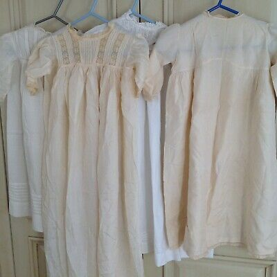Job Lot Antique Baby Dresses / Gowns Embroidery and Lace For Repair  Suit  Dolls