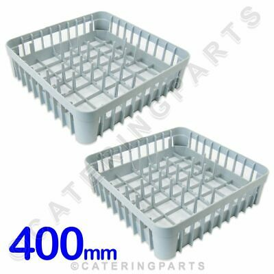 2 x 400 x 400 DISH-WASHER GLASS-WASHER SQUARE PLATE RACKS PEGGED BASKETS 400MM
