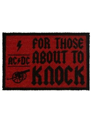AC/DC Door Mat For Those About To Knock 60x40cm