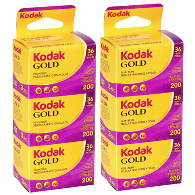 6 x Kodak Gold 200 Film Pack 135 (36 Exposures)