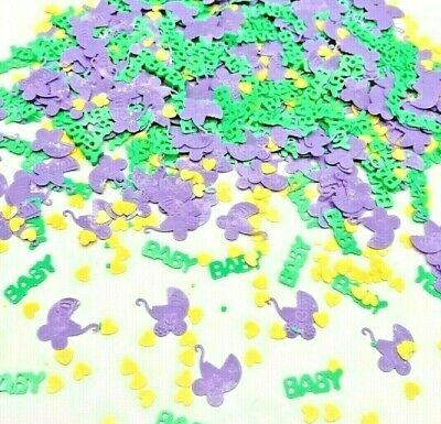 Pram Unisex BABY SHOWER CONFETTI TABLE SPRINKLES TABLE DECORATIONS Boy or Girl