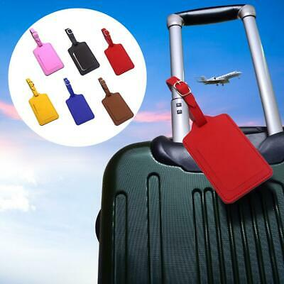 Leather Travel Luggage Tag Baggage Suitcase Bag Identity Address Name Labels
