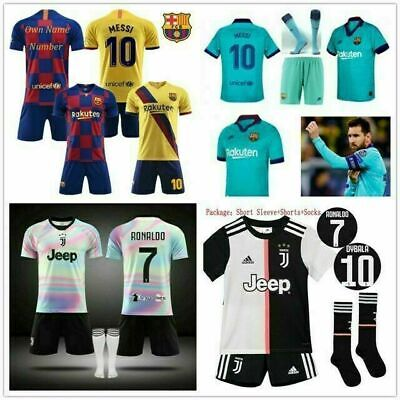 19-20 Kids Football Kits Youth Uniforms Boys Full Kits Soccer Team Sports Outfit