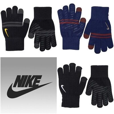 Nike Boys & Girls Gloves Knitted Touch Screen Running Winter Kids Glove 7-14 YRS