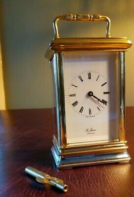 Vintage St James London Carriage Clock / Timepiece ~ 8 Day with Key ~ Serviced