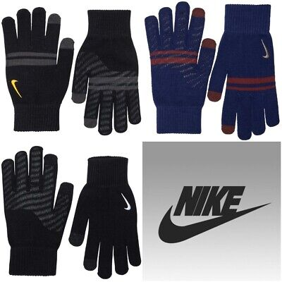 Nike Mens Womens Gloves Knitted Warm Touch Screen Grip Running Gym Winter Glove