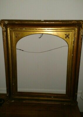 "Large antique 19thc 33""x 29"" wood  frame for your 25.5"" x 21.5"" painting"