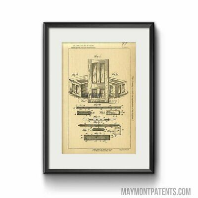 Wood Furniture Benedict Original Patent Lithograph 1889