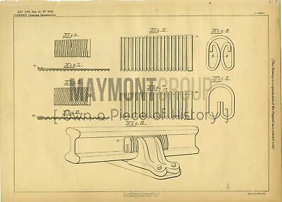 Chair Keys and Wedges Cooper Original Patent Lithograph 1888