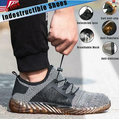 Men's Work Safety Shoes Indestructible Steel Toe Boots Breathable Sneakers Women