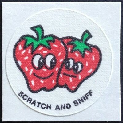 Vintage CTP MATTE Scratch /& Sniff Stickers Orchid #2 Mint Condition!!