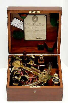 A sextant of the early 20th century in brass by 'Heath and Co Ltd. New Eltham,