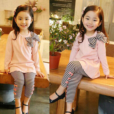 Kids Girls outfit Children Toddlers Leggings Girls outfit Girls Stripes