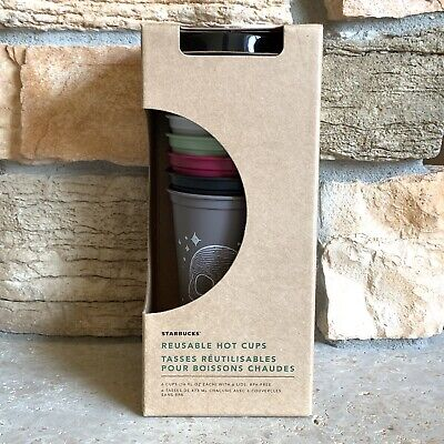 Starbucks 2019 Fall Halloween Reusable Hot Cups Limited Edition SET OF 6 CUPS