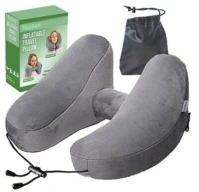 NaoBest Luxury Inflatable Travel Pillow Airplanes - Air Pillow w/Adjustable N...