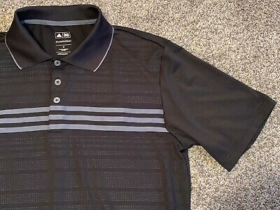 EUC Mens Adidas Puremotion SS Golf Shirt, Black, Size Medium