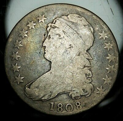 1808 Capped Bust Half Dollar - Good !!