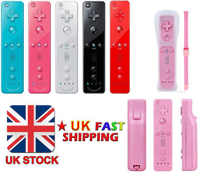 2Set REMOTE CONTROLLER and NUNCHUCK FOR NINTENDO WII & WII U +SILICONE +STRAP UK