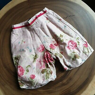 Burberry Baby Girl Size 6M Dusky Pink Floral Bloomers Culottes Shorts Trousers