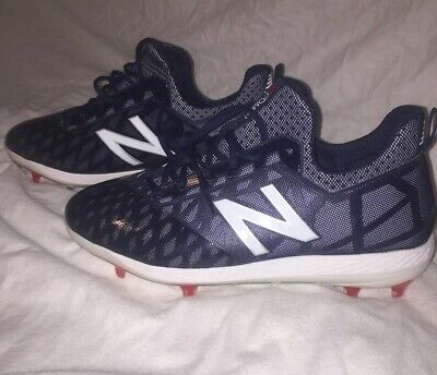 New Balance COMPv1 TPU Molded Baseball Cleats - Size 11- Navy Blue Red White