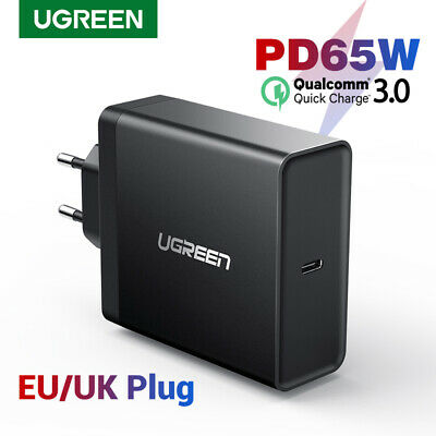 Ugreen USB C Type C Charger PD 65W Power Delivery Adapter for MacBook Pro iPhone