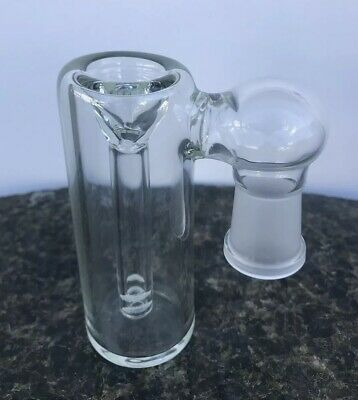 Glass Ash Catcher bowl 18mm Female 90 Degree Clear Glass Downstem  Fixed