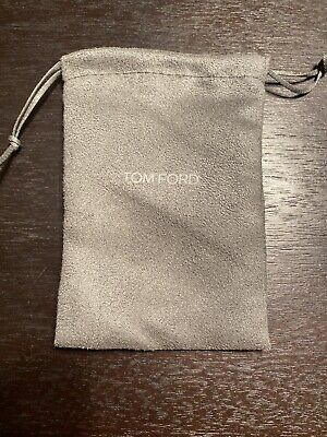 New Tom Ford Small Draw String Dust Bag Gray Authentic 5x4 in