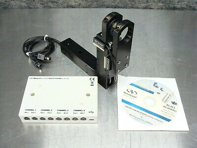 Newport AG-UC8 8-Axis AGILIS Controller + 2 x AG-LS25 12mm Piezo Linear Stage #1