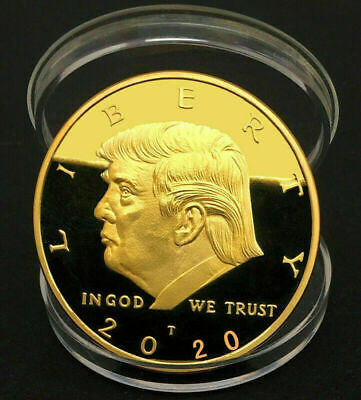 2020 US President Donald Trump Inaugural Gold Eagle Commemorative Novelty Coin