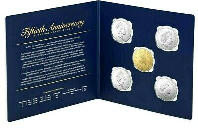 2019 50th Anniversary of the Dodecagon 50c Coin 5 Coin Set