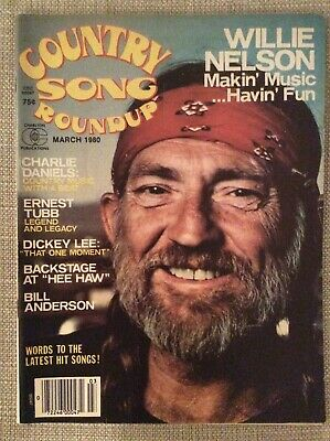 Willie Nelson Magazine Lot 1976 1977 1980 Country Song Country Hits Nashville