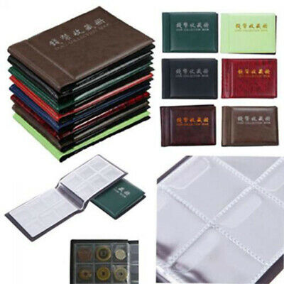 OZ Holder 60 Coins Collection Album Storage Money Penny Book Collecting Pockets