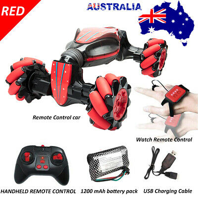 Remote Control Off-Road Gesture Sensing 4WD Double Sided Flip RC Stunt Car NEW