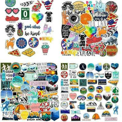 100Pcs Mixed Vinyl Laptop Skateboard Stickers bomb Luggage Decals Dope Sticker